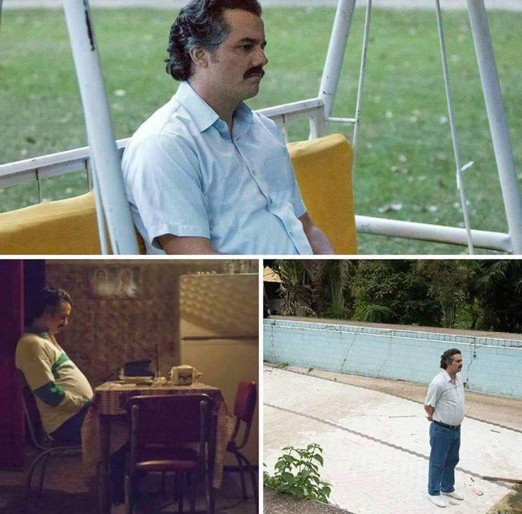 Pablo Escobar Waiting - caption
