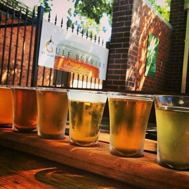 Beer tasting paddle, #Hahndorf, #SouthAustralia #GulfBrewery. Image by @Rhiannon Watt. #lp #travel