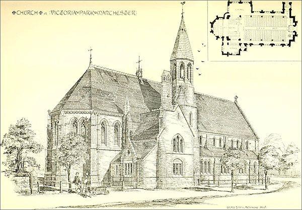 1876 - St John Chrysostoms Church, Victoria Park, Manchester - Architecture of Lancashire - Archiseek.com
