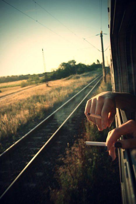 Der Rauch bleibt hinter uns zurück, während wir in die Freiheit fliehen...
