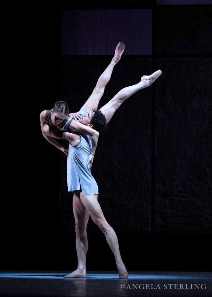 "Jurgita Dronina and Isaac Hernández ""Axiom of Choice"" (Ernst Meisner) from ""Back to Bach"", Het Nationale Ballet (The Dutch National Ballet) - Photographer Angela Sterling"
