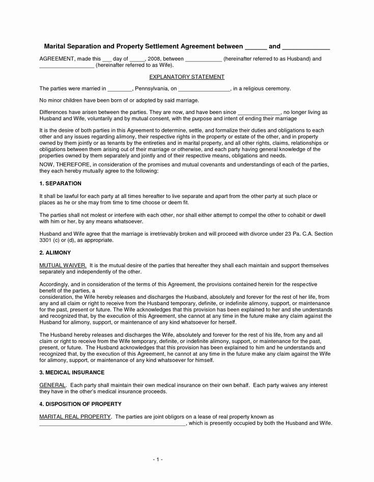 Divorce Agreement Template Free Best Of Best S Of Free Marital Separation Agreement Forms Separation Agreement Separation Agreement Template Divorce Agreement