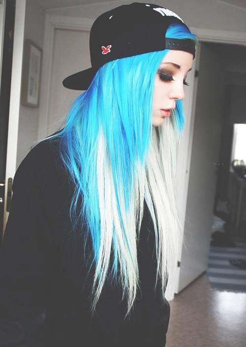 Картинки по запросу причёски синие волосы