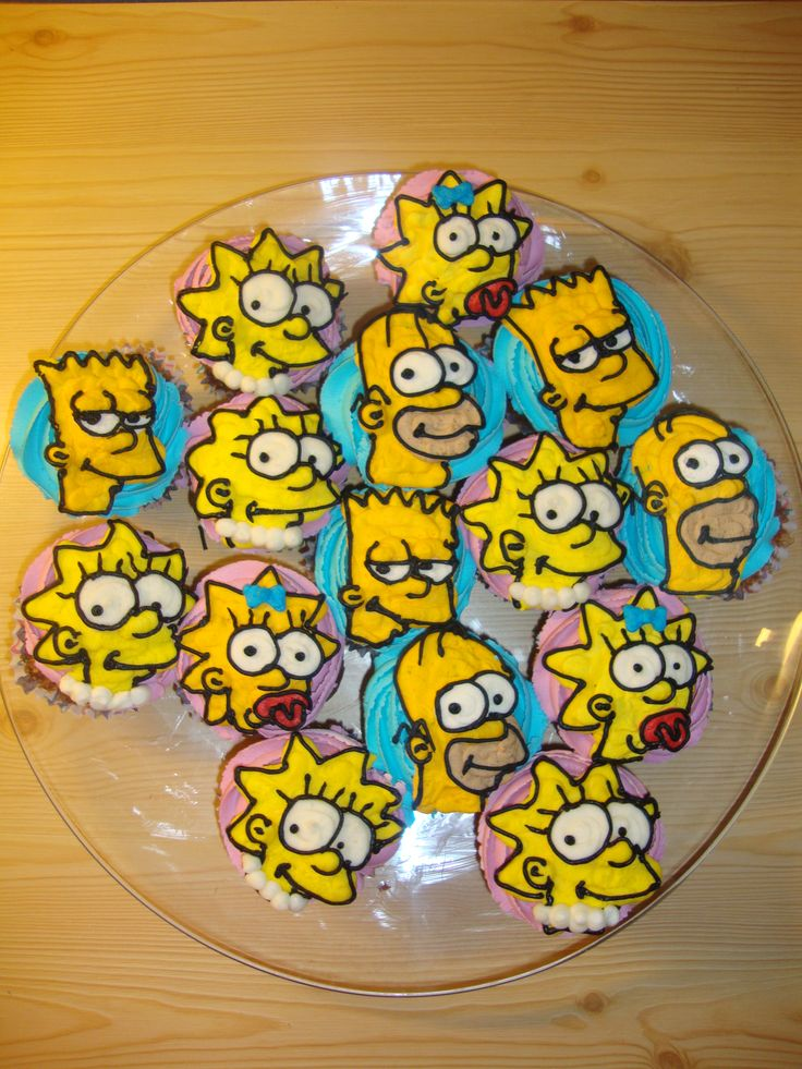 Simpson cupcakes by LizzyLix.deviantart.com on @deviantART