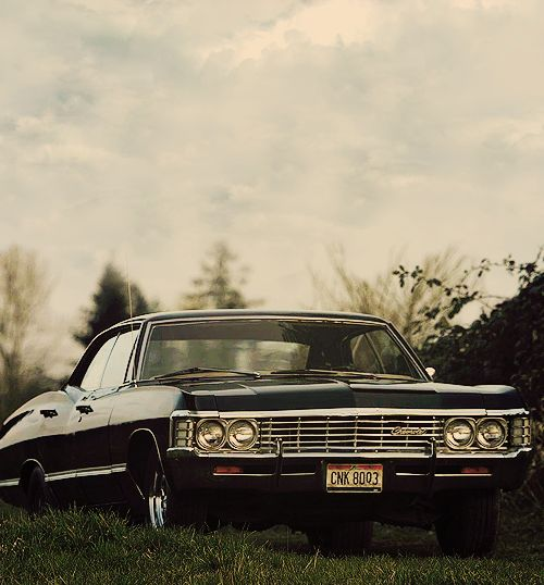 """Dean's """"Baby"""" - '67 Impala. Dean is like the coolest person ever. If I could be anybody else, Dean would be my second choice~Scott"""