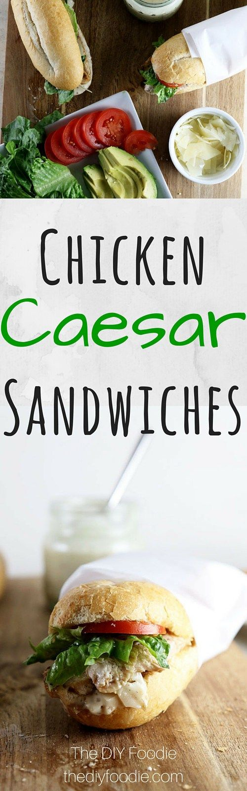 Caesar Sandwiches - OMG I am totally in love with these!!