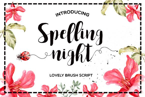 Spelling Night by Mellow Design Lab on @creativemarket