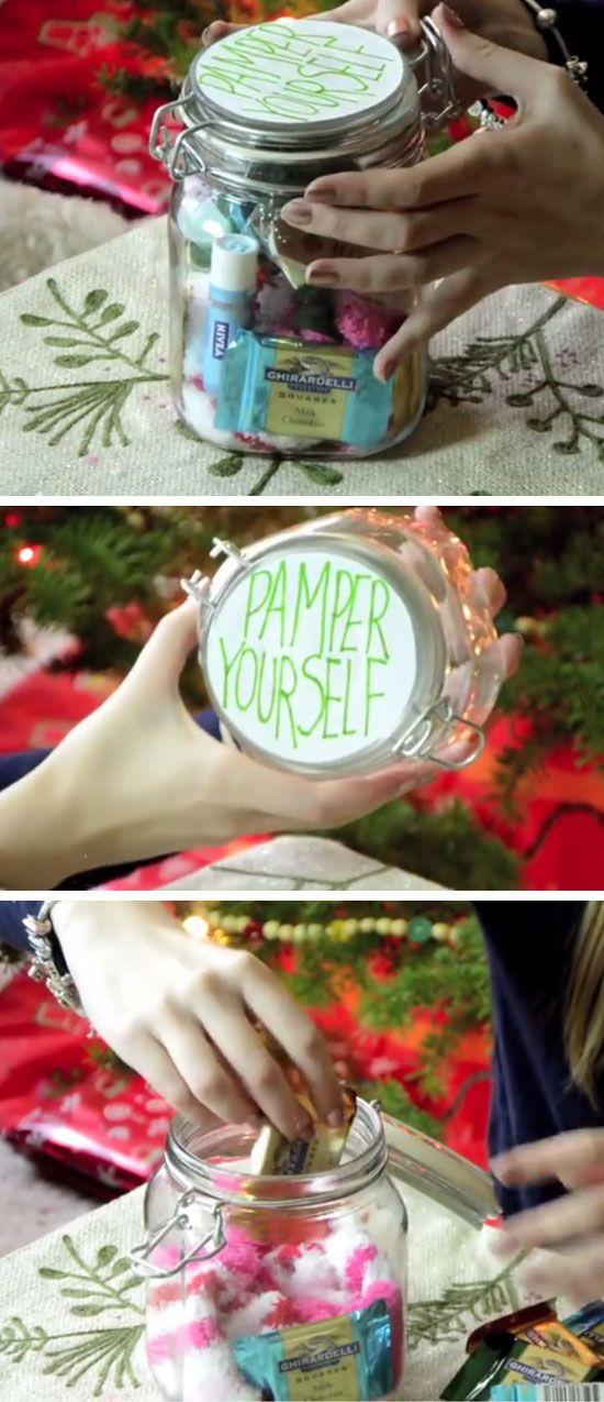 Pamper Jar | DIY Christmas Gifts in a Mason Jar | Inexpensive Christmas Gifts for Friends