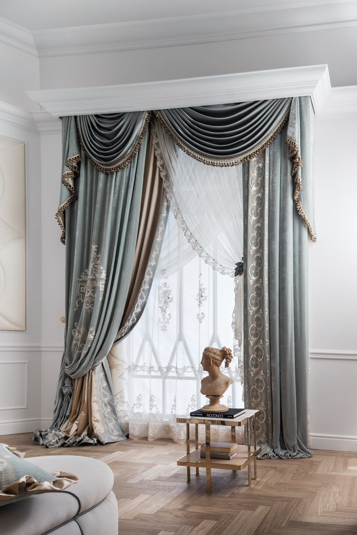 Black out curtains elegant valance curtains beaded valance curtains - Luxury Curtains Is The Final Touch In Creating Interiors Luxury Antonovich Design Studio Offers Best Solutions Of Textile Design