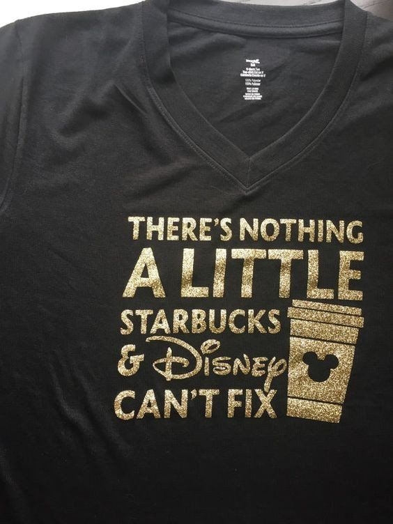 There's Nothing A Little Starbucks and Disney Can't Fix Adult V-Neck