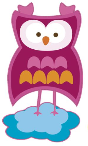 Wall sticker with owls, butterflies and other cuties - how perfect for colourful baby room and nursery!