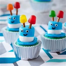 This Zany Robot Cupcakes recipe from Pillsbury™ Baking are the perfect easy dessert recipe for a robot birthday party!