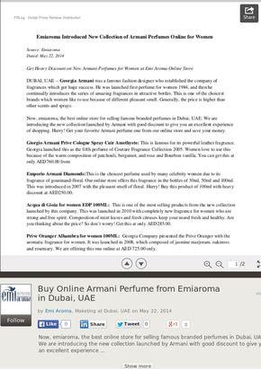Buy Online Armani Perfume from Emiaroma in Dubai, UAE