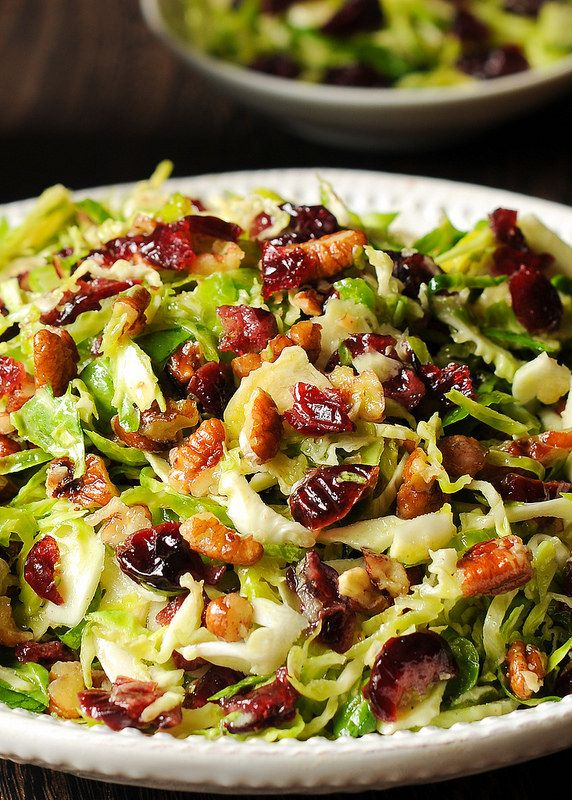 Brussels Sprout Cranberry Salad with Honey Mustard Vinaigrette - What's In The Pan?