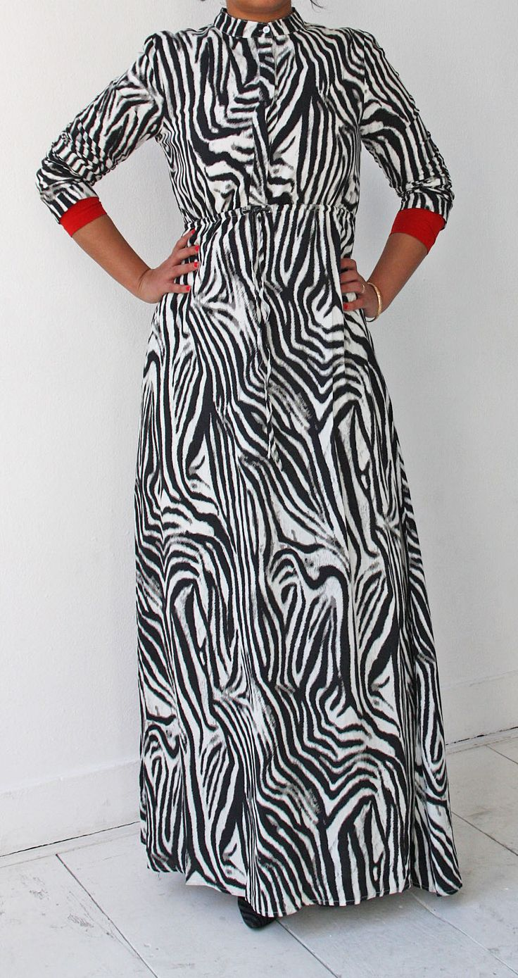 Islamitische mode. Zebra abaya dress www.moumina.com. Islamic fashion.