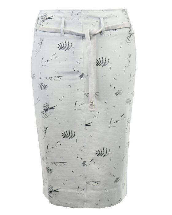 <p>Beige rok met een all over print van het merk Penn & Ink in een sweat materiaal.</p>