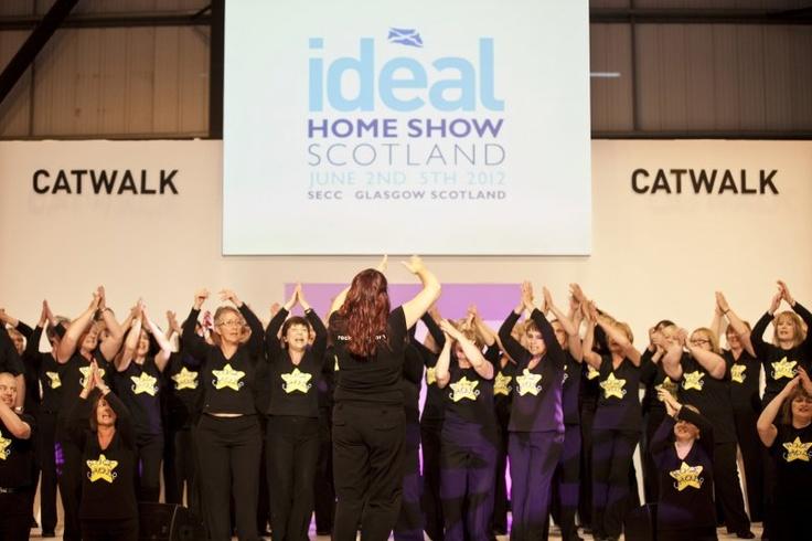 A choir at the Ideal Homes Show Scotland 2012