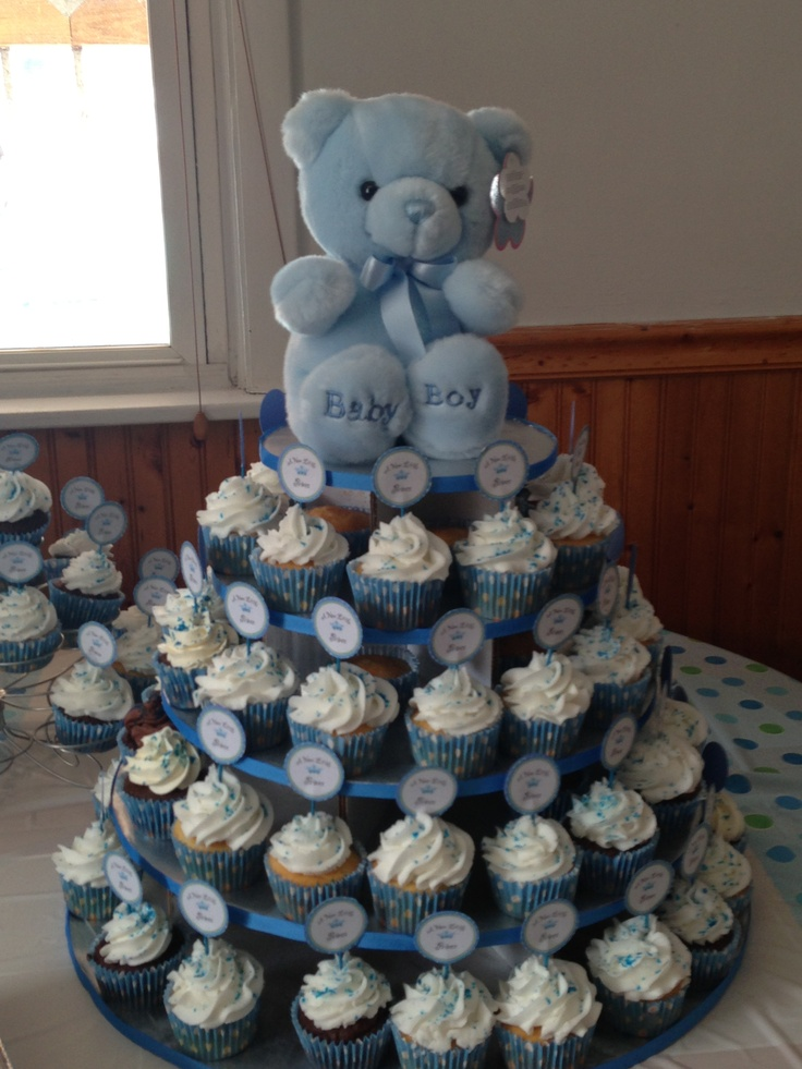 Ideas For Baby Shower Cakes Or Cupcakes : My baby shower cupcake tower Baby shower ideas Pinterest