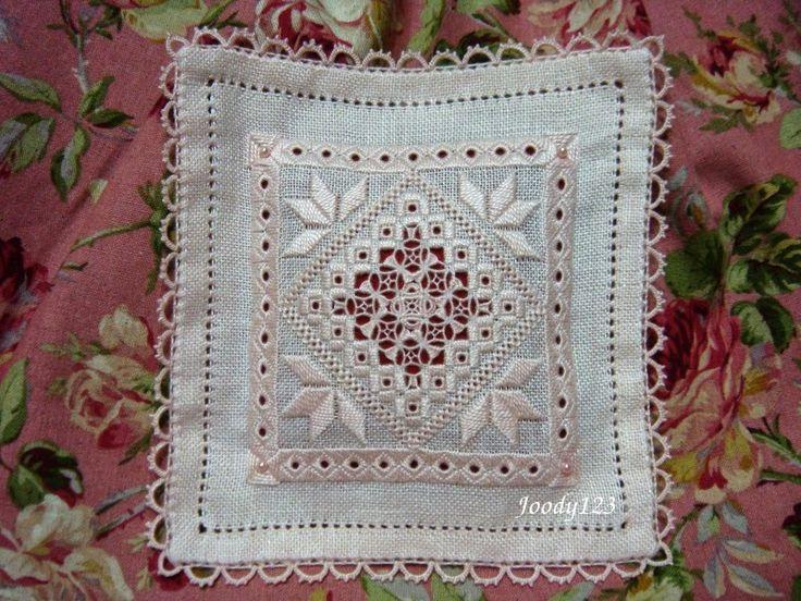 Hardanger Sachet ~ by Whitework Embroidery