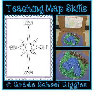 Grade School Giggles: Teaching Map Skills With A Freebie
