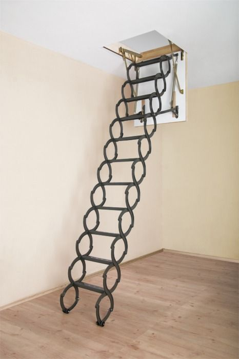 Great alternative to the winding staircase look...