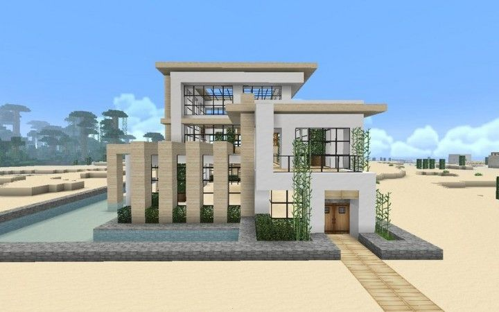 Modern Minecraft House with Soartex Fanver resource pack!