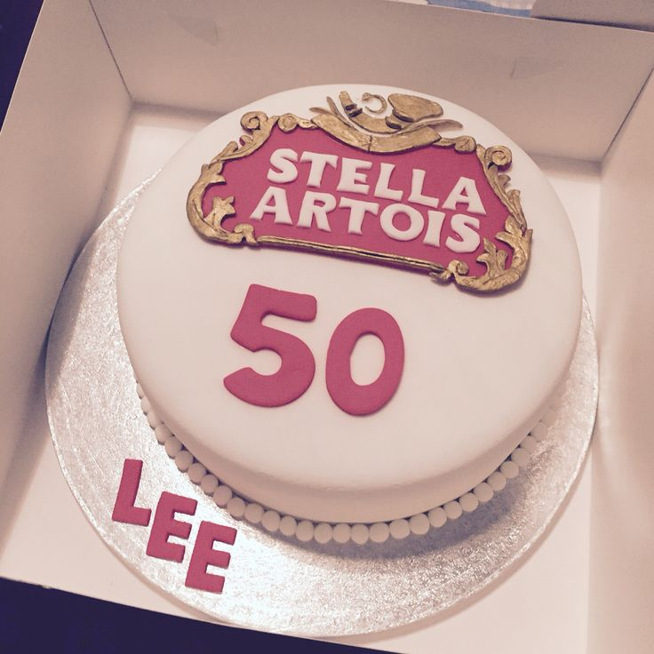 Stella Artois cake #stella #stellacake #stellaartois #birthdaycake #50thcake #cake #noveltycake