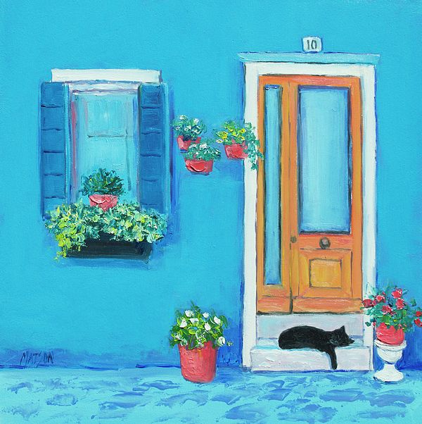 Colorful houses of Burano, Venice, Italy.