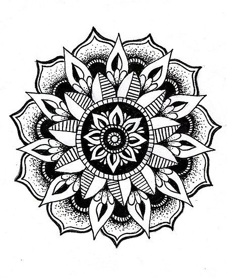 Mandala flower | Tattoos | Pinterest | Mandalas, Flower ...