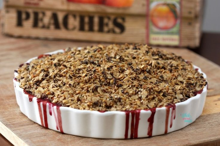 Peach Blueberry Crumble | Food | Pinterest