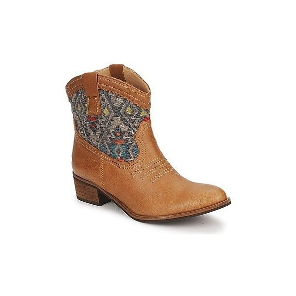 Carvela SENORITA Mid Boots ($185) ❤ liked on Polyvore featuring shoes, boots, tan, carvela boots, tan shoes, leather boots, woven shoes and native american shoes