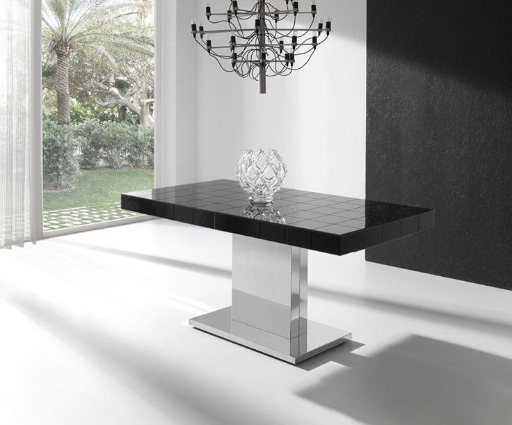 Moderna y lujosa mesa de comedor extensible tablero de for Mesa 8 comensales