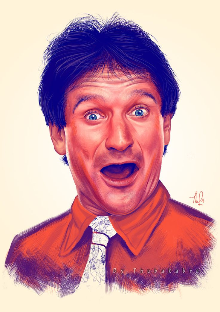 Young Robin Williams by Thubakabra on DeviantArt