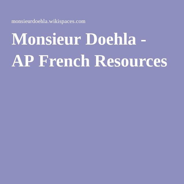 Monsieur Doehla - AP French Resources