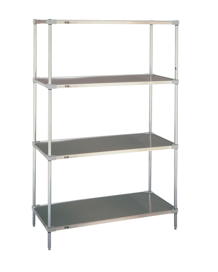 Super erecta Solid Shelving unit 4 tier kit