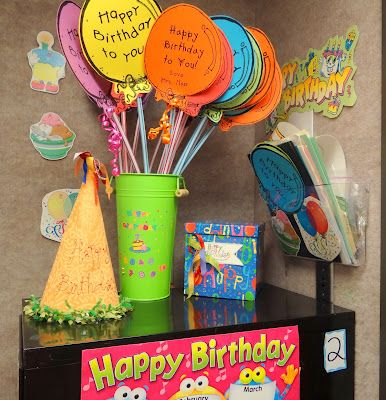 What are some of YOUR ideas for giving students Birthday Gifts? Here are mine.....Giant Pixie Stix from Sams with balloons attached.