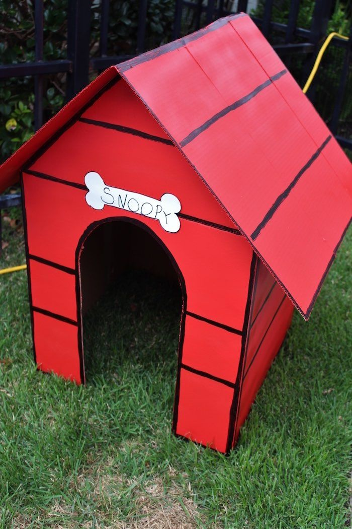 Snoopy's Dog House from a Peanuts + Charlie Brown Birthday Party via Kara's Party Ideas | KarasPartyIdeas.com (7)