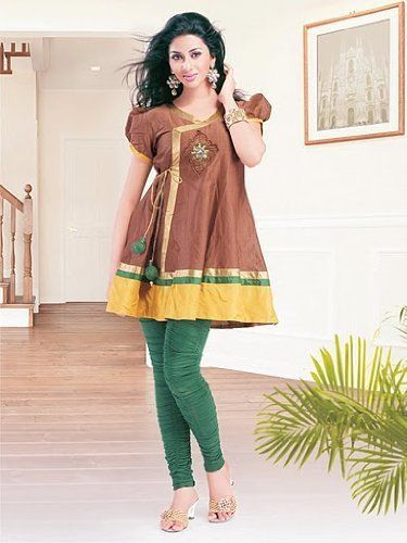 Cap Sleeve Patched & Embroidered Work Ladies Blouse Tunic Top Kurta Kurti Haas Fashion. $59.00