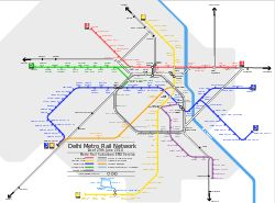 Metro service in #NewDelhi