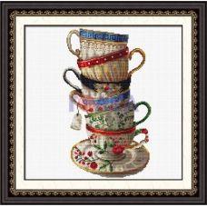 100108 Набор кофейных чашек. DOME CRAFT. Набор для вышивания нитками