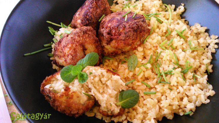 Karfiolfasírt bulgurral, diétás ebédre!