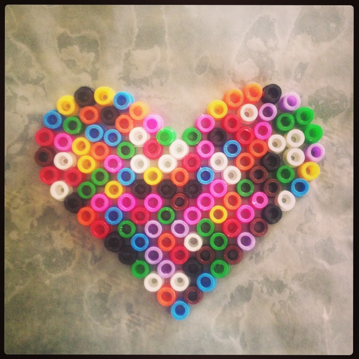Returning to perler beads after over 10 years! Made this ... |Perler Bead Heart