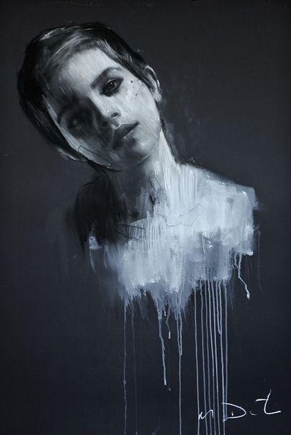Artist Mark Demsteader captures Emma Watson