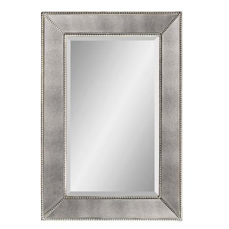 powder room | Beaded Frame Mirror | shades of light $275: Frame Mirrors, Mirror Features, Frames Mirror, Beveled Mirror, Master Bathroom