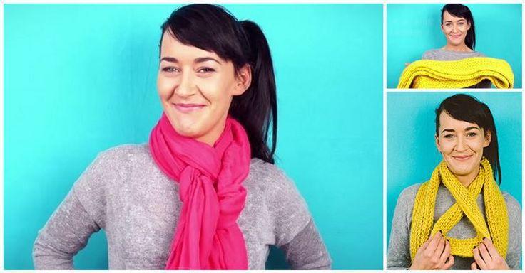 Kreativní nápady jak si stylově a modně uvázat šátek nebo šálu! | Vychytávkov