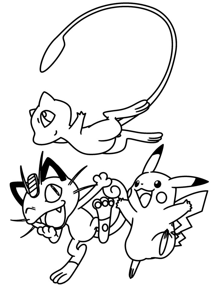 pokemon group coloring pages - photo#32