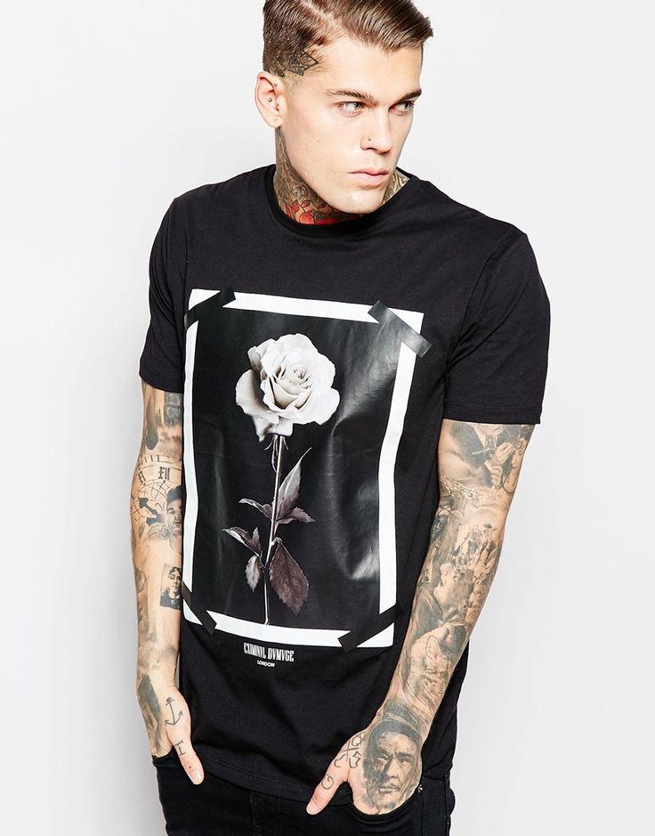 Image 1 ofCriminal Damage T-Shirt With Rose Print