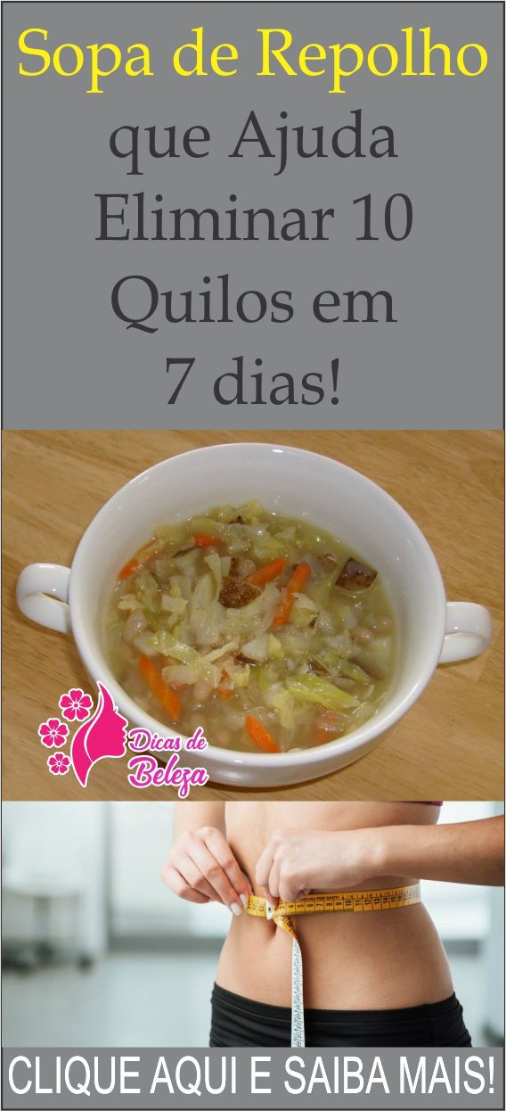 Dieta sopa 7 dias