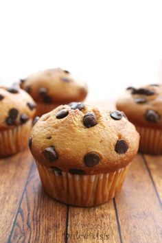Muffins de Vainilla y Chispas de Chocolate