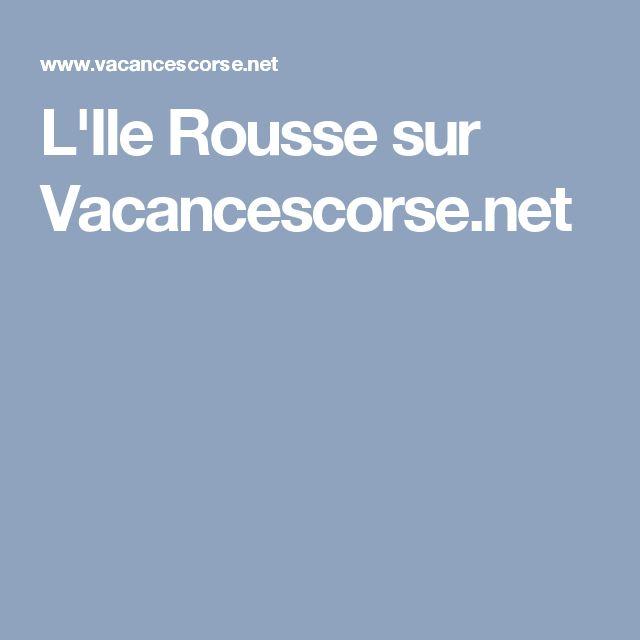 L'Ile Rousse sur Vacancescorse.net